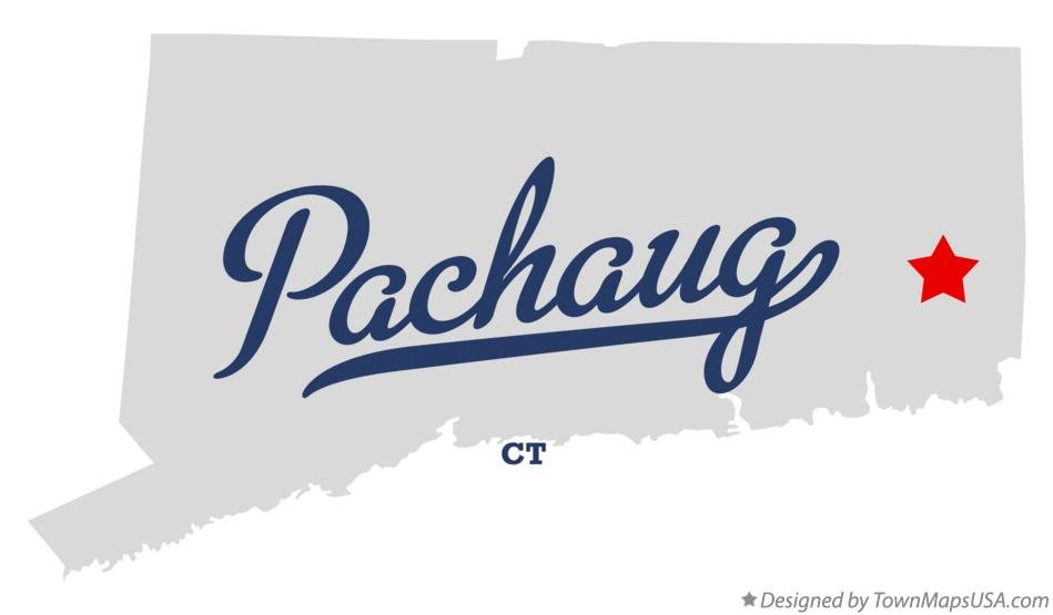 Map of Pachaug Connecticut CT
