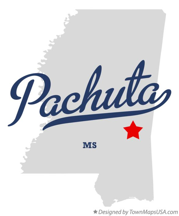 Map of Pachuta Mississippi MS
