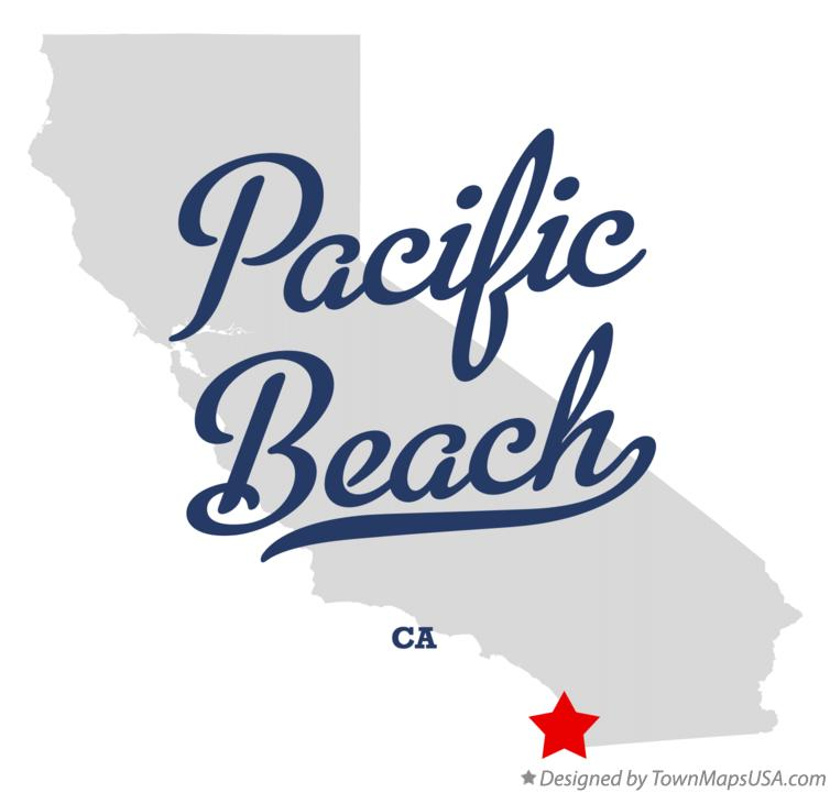 pacific beach ca map Map Of Pacific Beach Ca California pacific beach ca map