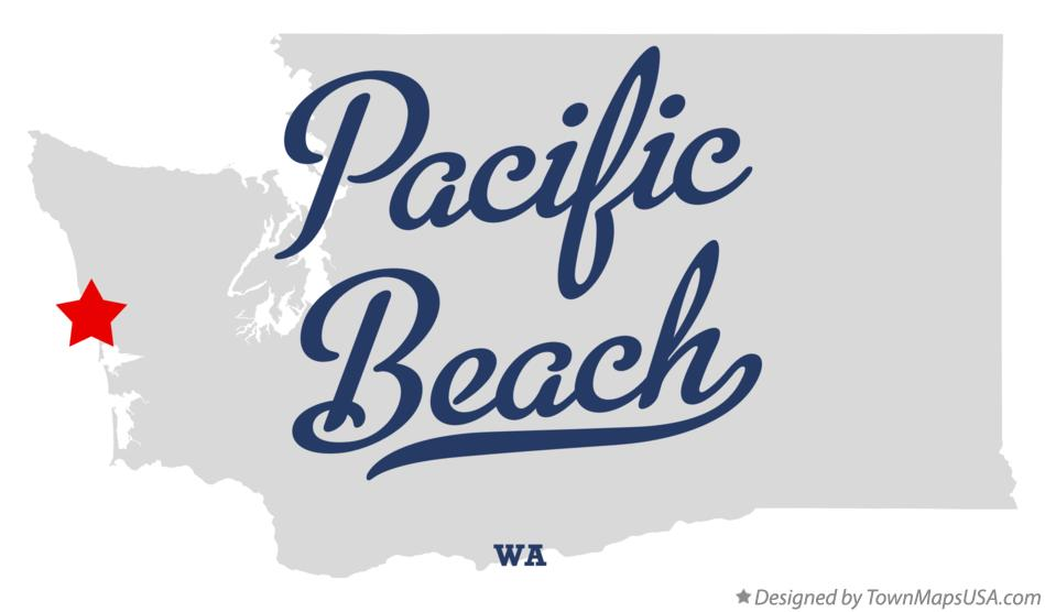 Map of Pacific Beach Washington WA