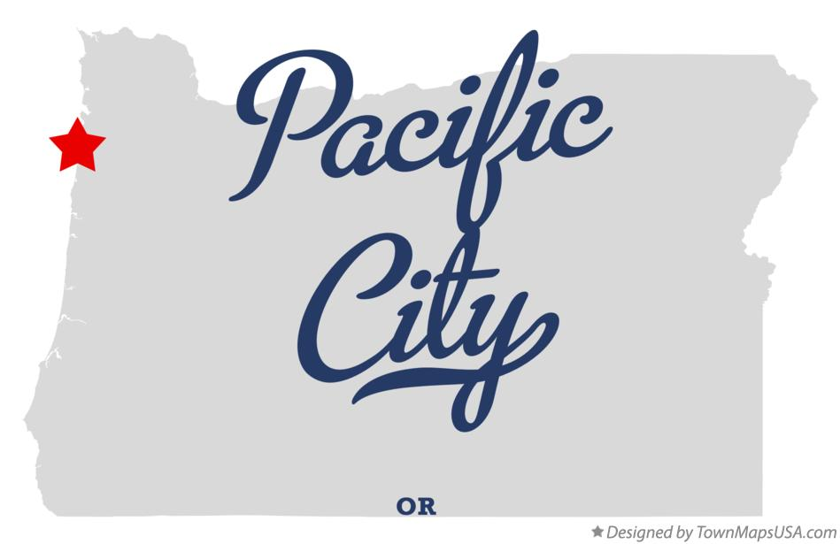 Map of Pacific City Oregon OR