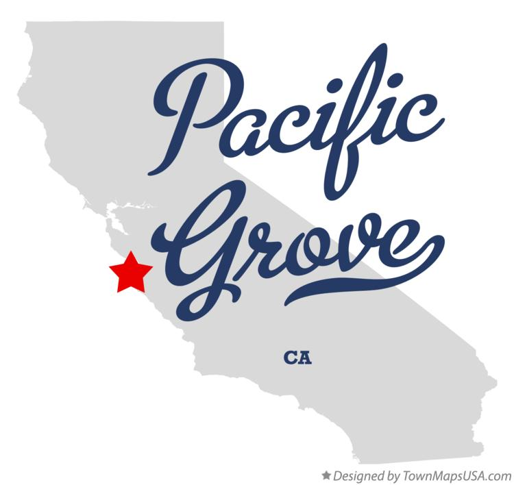 Map of Pacific Grove California CA