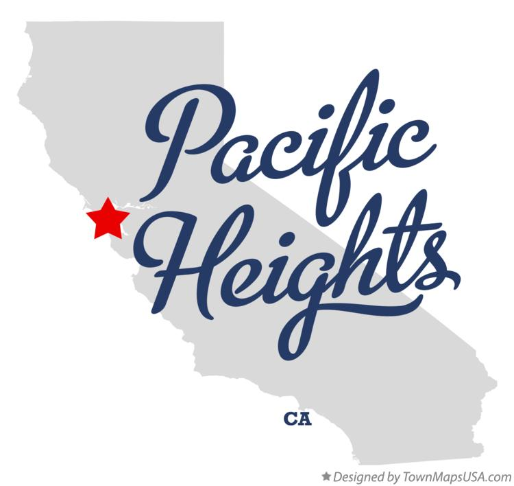 Map of Pacific Heights California CA