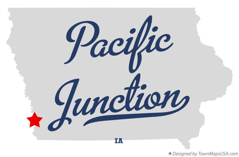 Worksheet. Map of Pacific Junction IA Iowa