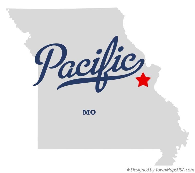 Map of Pacific Missouri MO