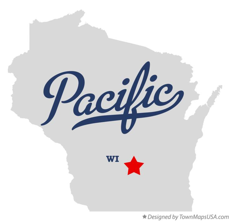 Map of Pacific Wisconsin WI