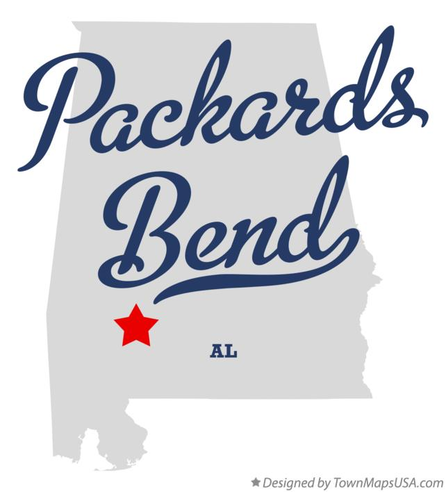 Map of Packards Bend Alabama AL