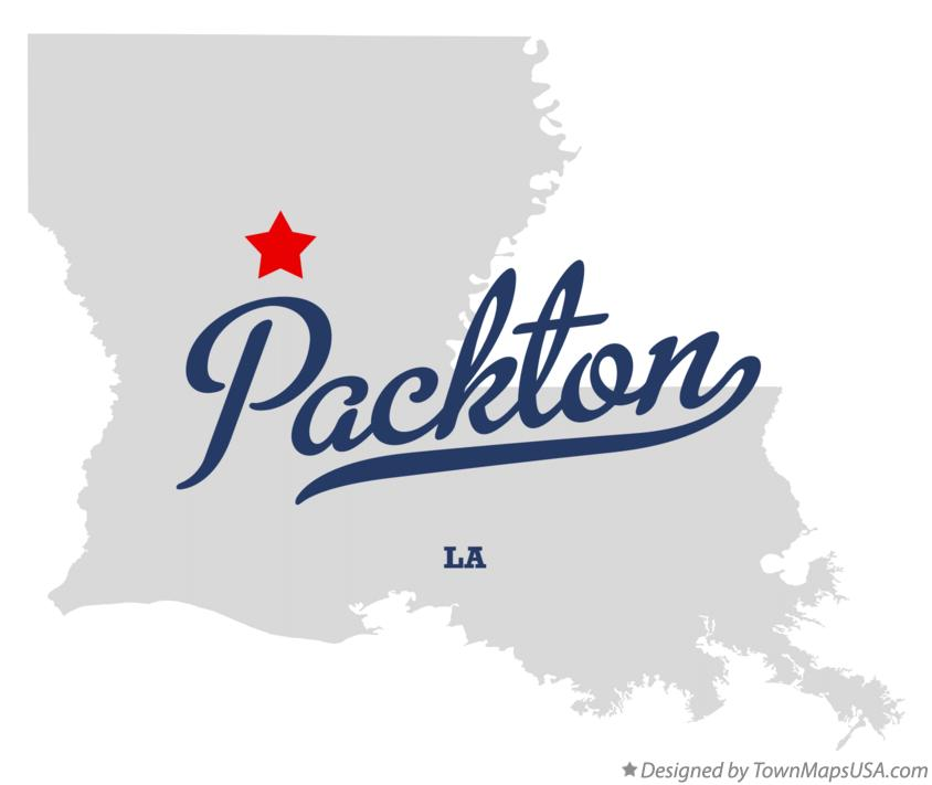 Map of Packton Louisiana LA