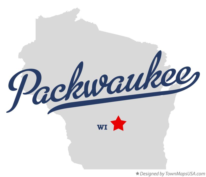 Map of Packwaukee Wisconsin WI