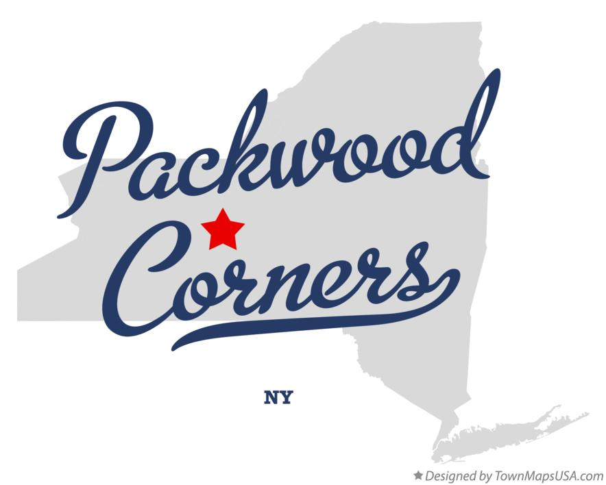 Map of Packwood Corners New York NY