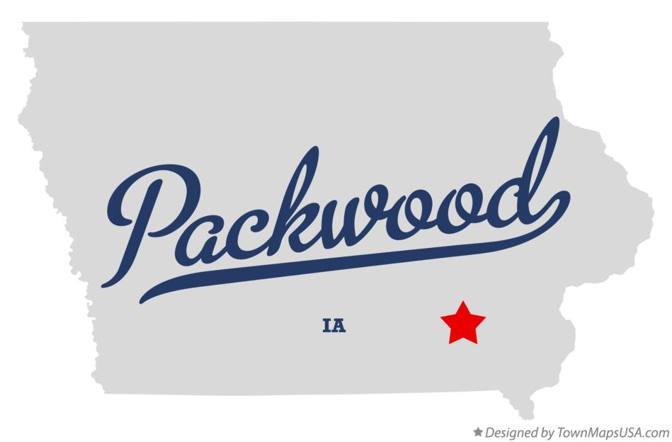 Map of Packwood Iowa IA