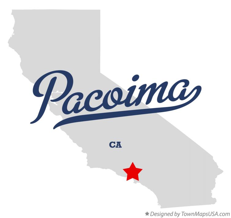 Map of Pacoima California CA