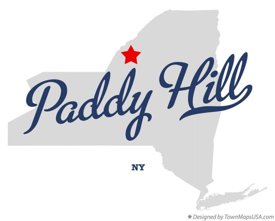 Map of Paddy Hill New York NY
