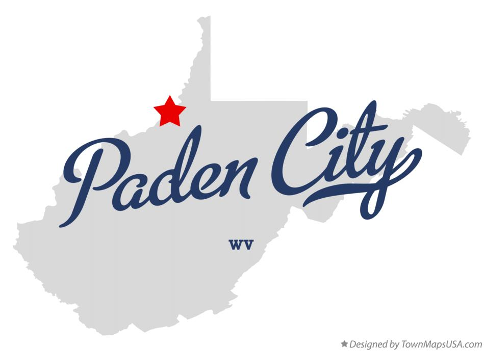 Map of Paden City West Virginia WV