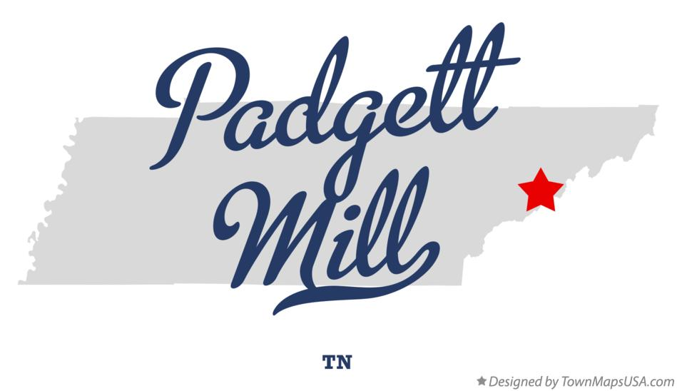 Map of Padgett Mill Tennessee TN