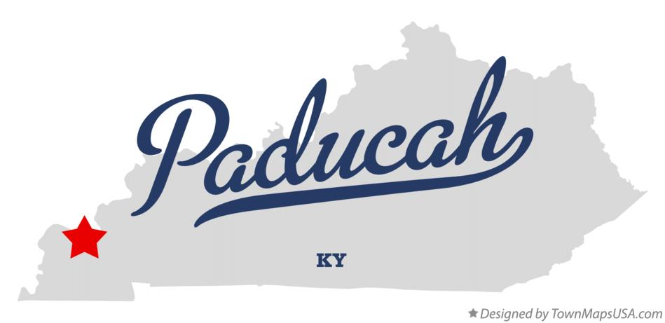 Map of Paducah Kentucky KY