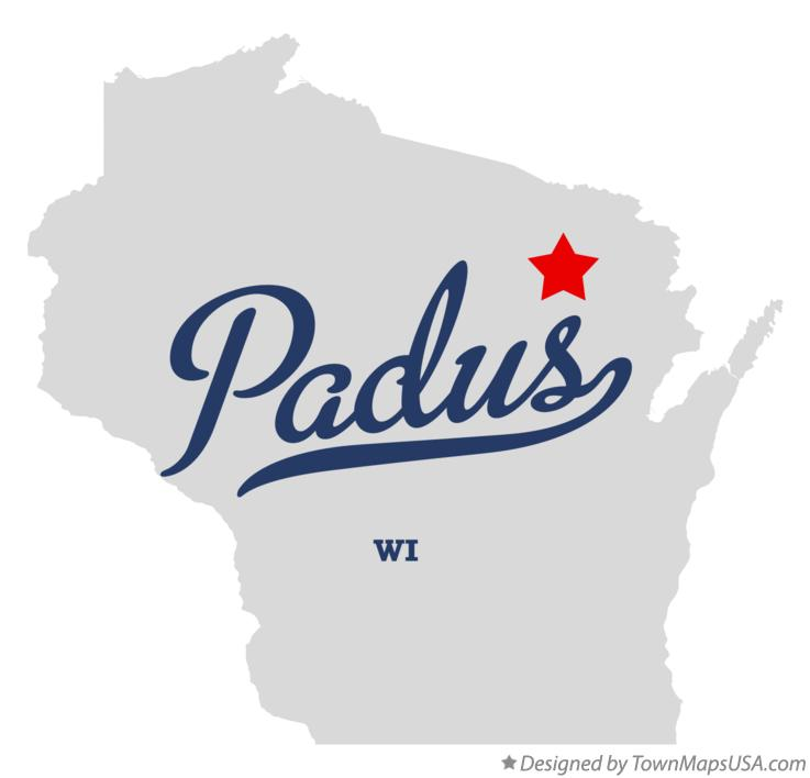 Map of Padus Wisconsin WI