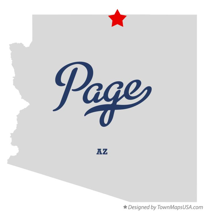 Map of Page Arizona AZ