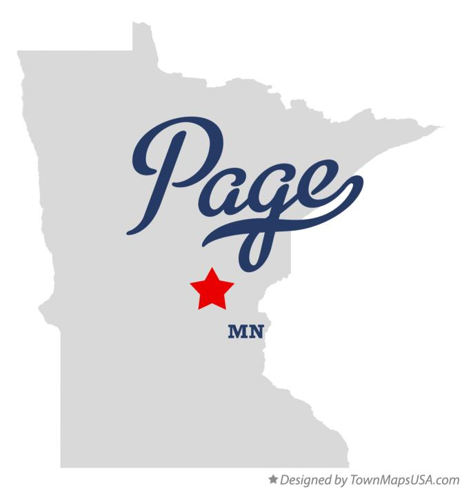 Map of Page Minnesota MN