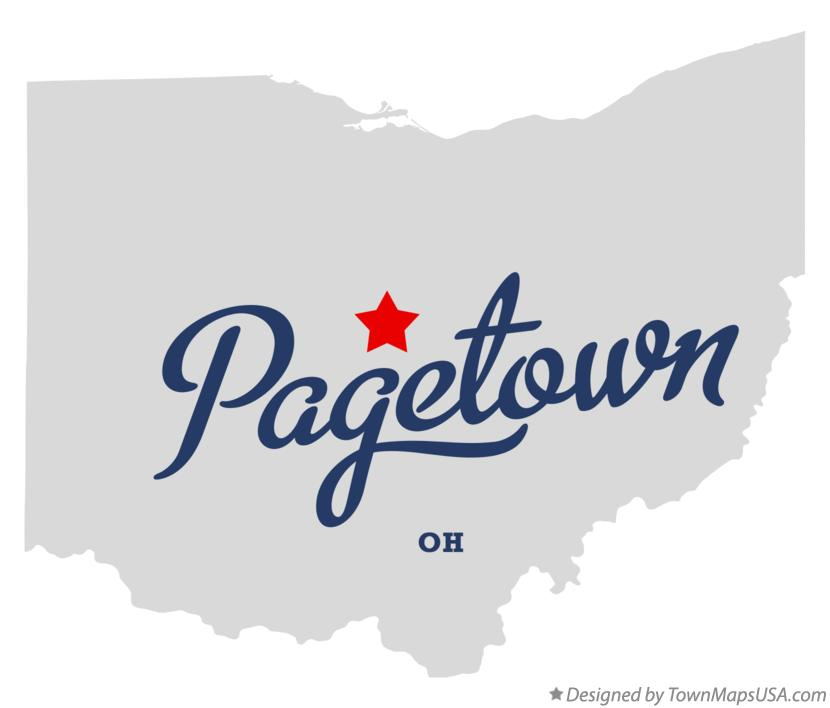 Map of Pagetown Ohio OH