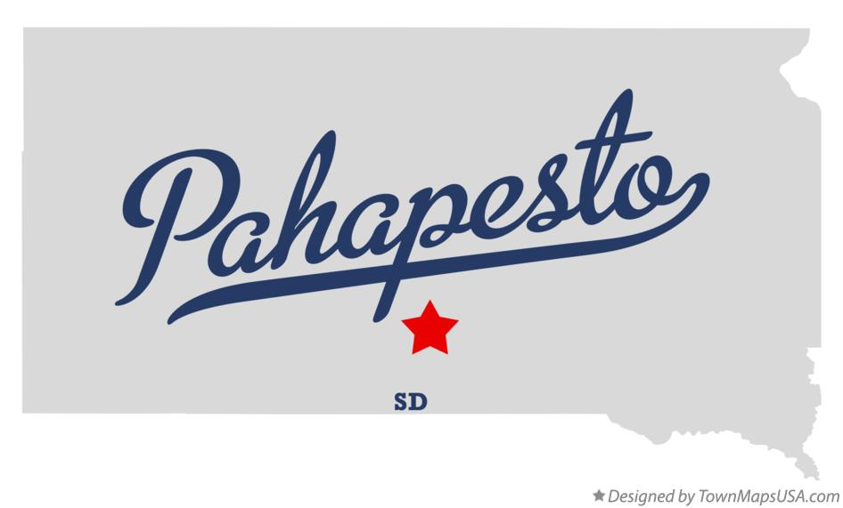 Map of Pahapesto South Dakota SD