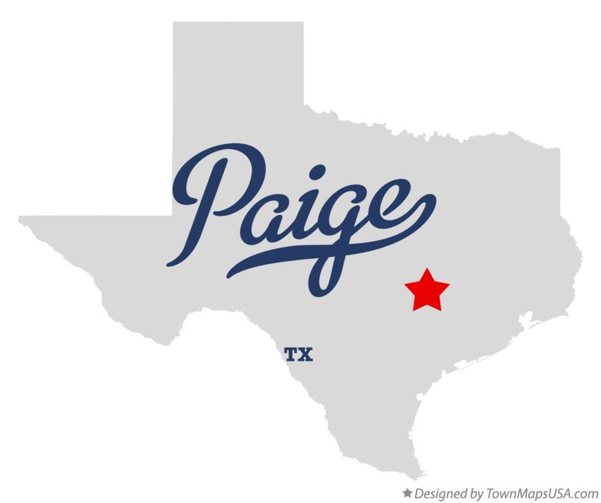 Map of Paige Texas TX
