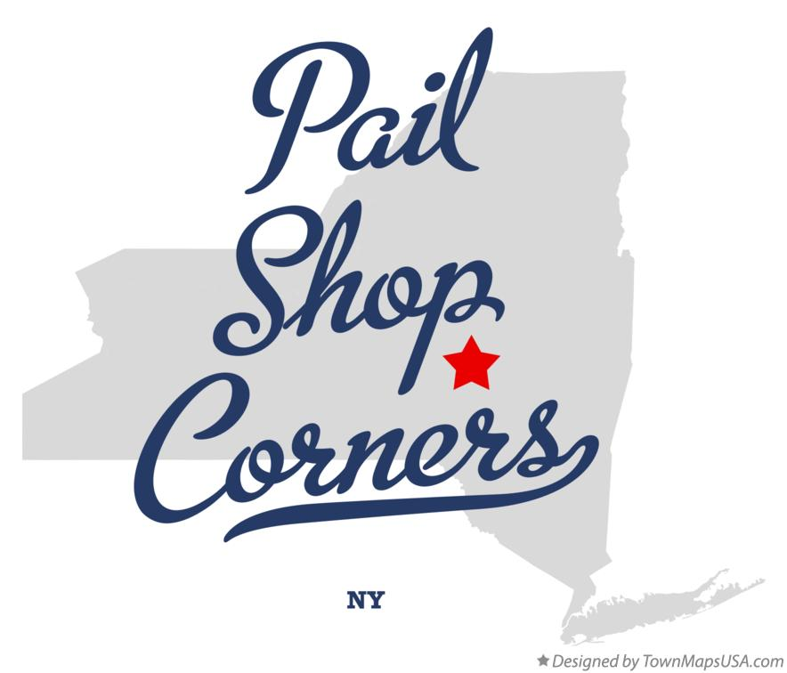 Map of Pail Shop Corners New York NY