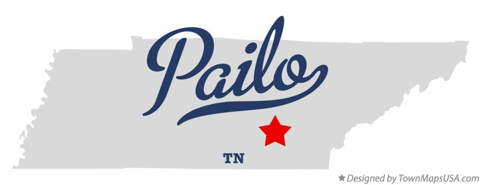Map of Pailo Tennessee TN