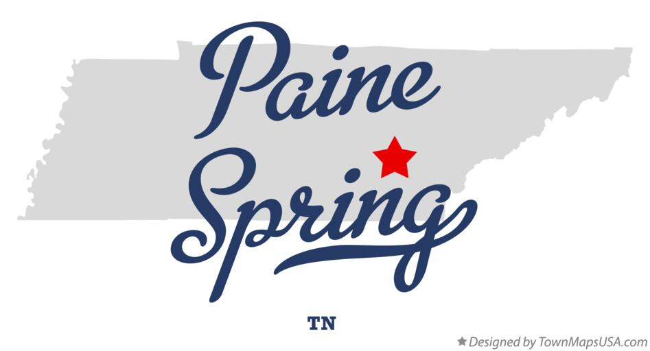 Map of Paine Spring Tennessee TN