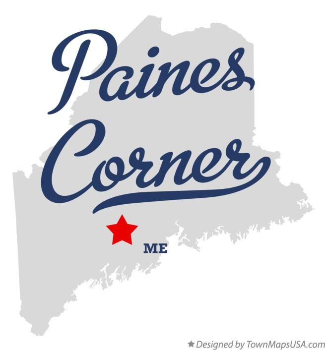 Map of Paines Corner Maine ME