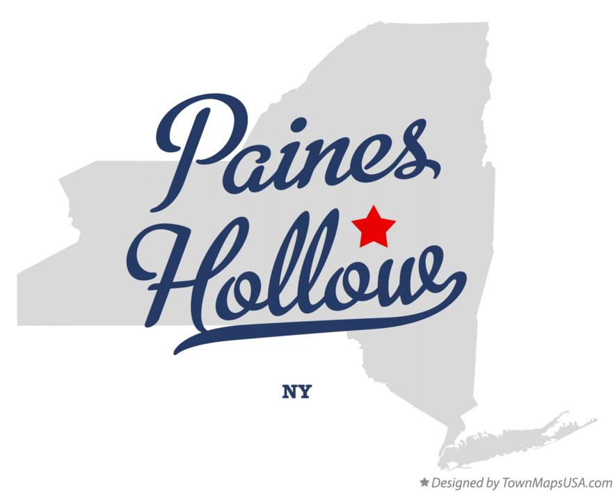 Map of Paines Hollow New York NY
