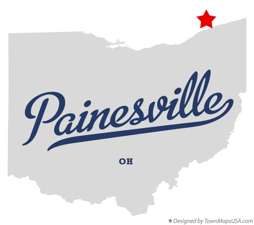 Map of Painesville Ohio OH