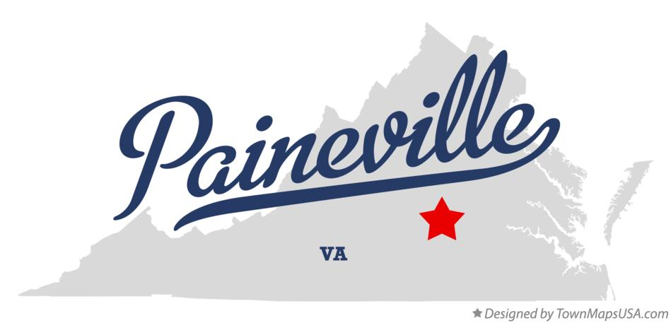 Map of Paineville Virginia VA