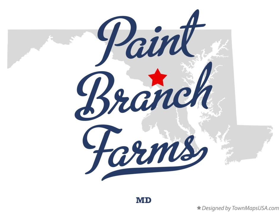Map of Paint Branch Farms Maryland MD