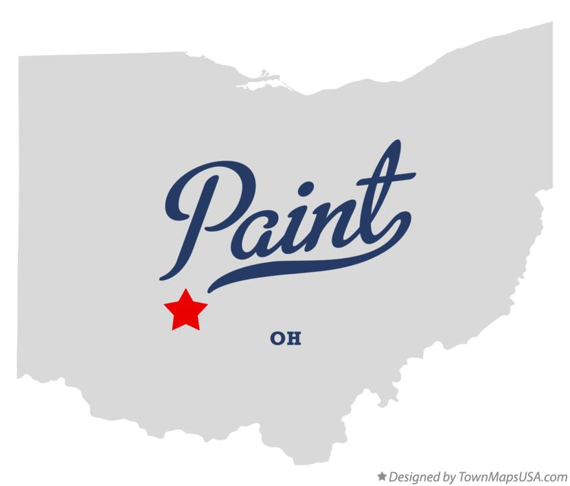Map of Paint Ohio OH