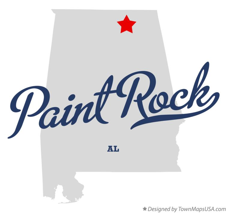 Map of Paint Rock Alabama AL