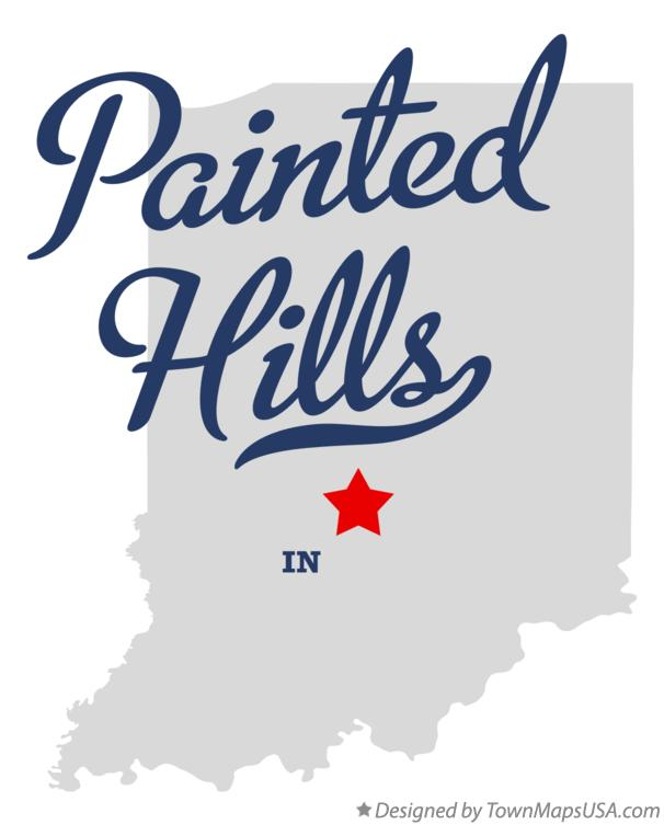 Map of Painted Hills Indiana IN