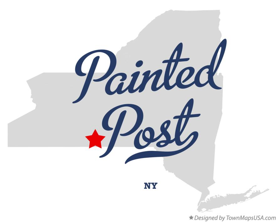 Map of Painted Post New York NY