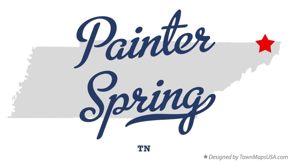 Map of Painter Spring Tennessee TN