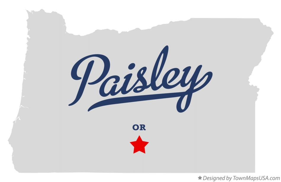 Map of Paisley Oregon OR