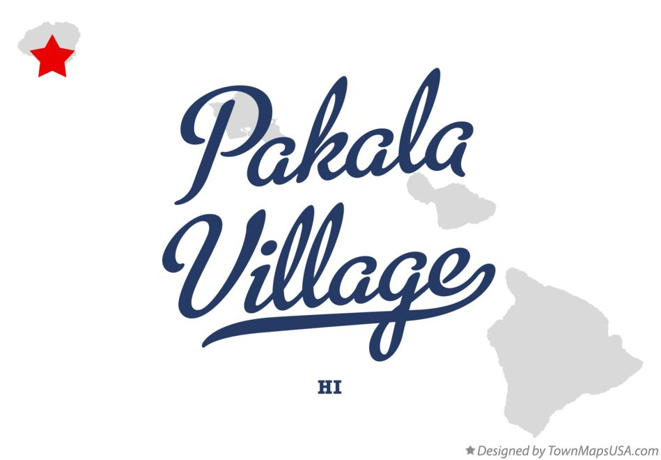 Map of Pākalā Village Hawaii HI