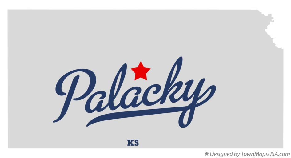 Map of Palacky Kansas KS