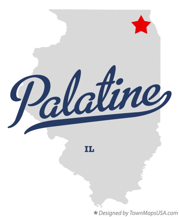 Palatine Illinois Map.Map Of Palatine Il Illinois