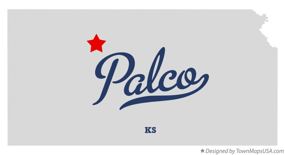 Map of Palco Kansas KS