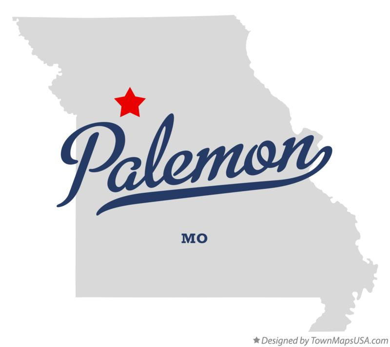 Map of Palemon Missouri MO