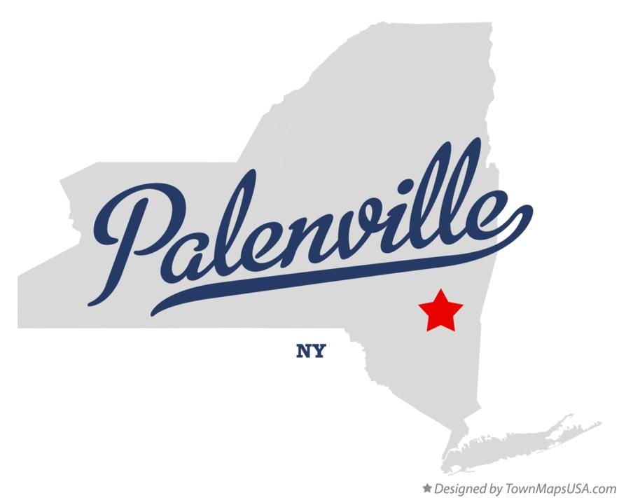 Map of Palenville New York NY