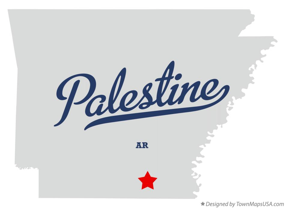 Map of Palestine Arkansas AR