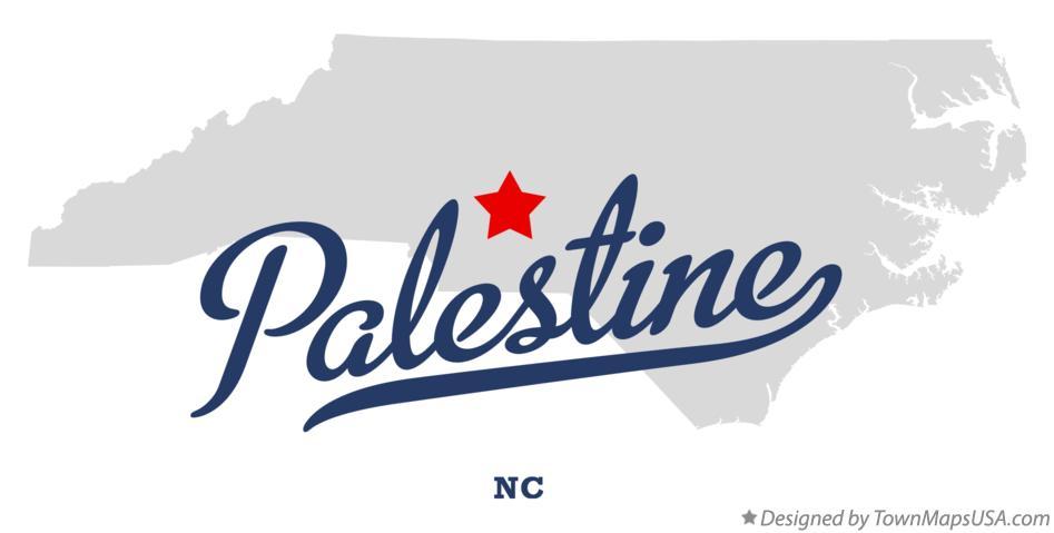 Map of Palestine North Carolina NC