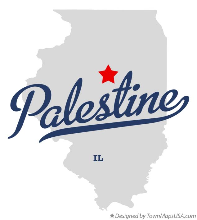 Map of Palestine Illinois IL