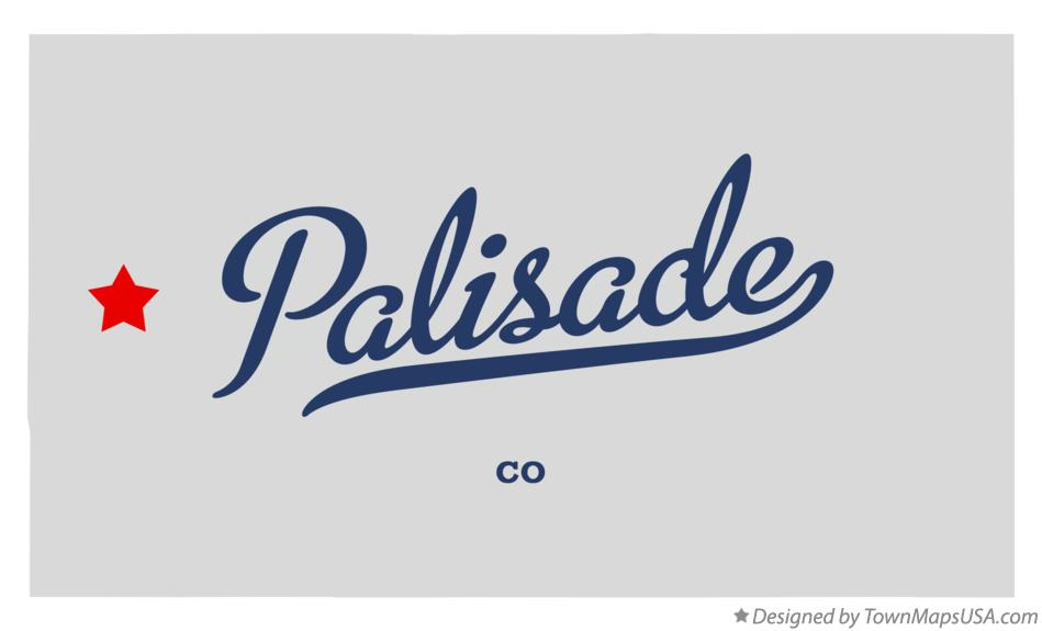 Map of Palisade Colorado CO